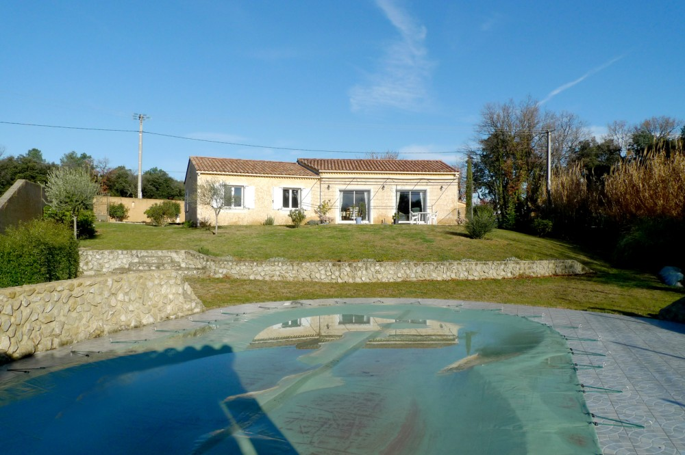 Villa unobstructed view Drôme Provençale on the same level