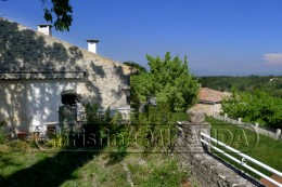 Stone village house Near St Paul trois chateaux huge garden with view